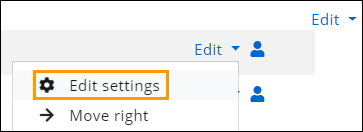 Image shows where to click on edit settings