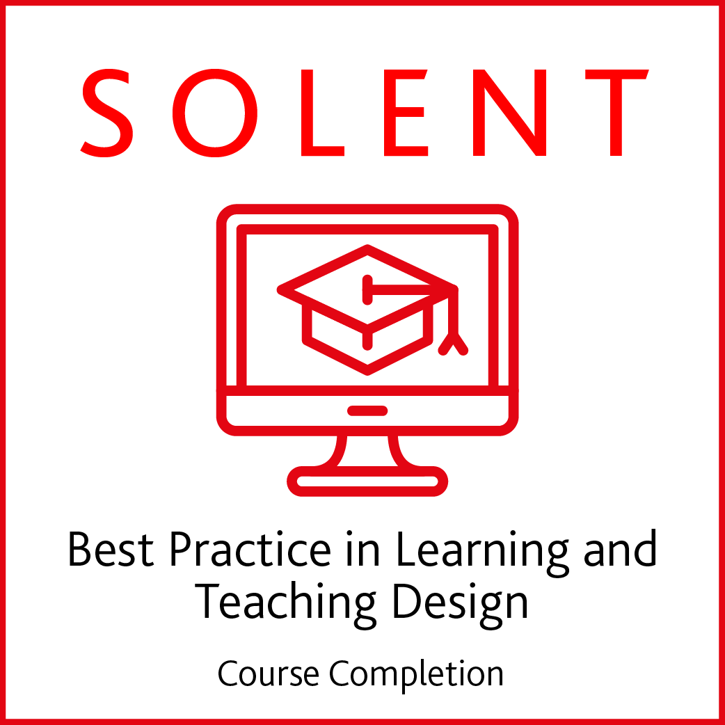course completion digital badge example