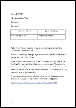Appendix research paper purpose