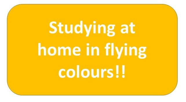 Studying at home in flying colours