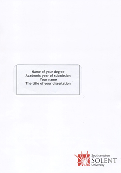 Dissertation services in uk title page