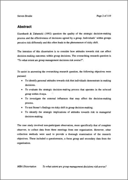 Proposals for phd thesis