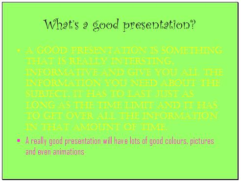 archived material presentations good use of colour and font